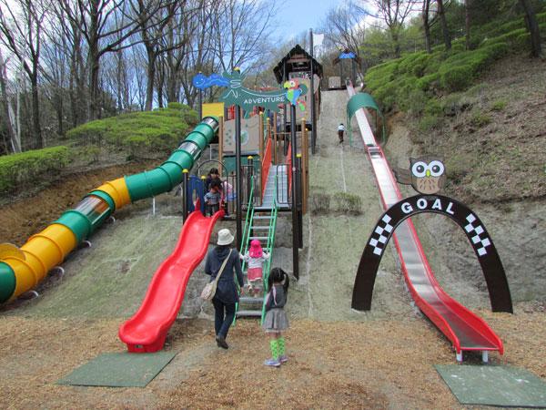 やまびこ公園の滑り台